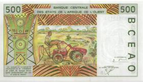 West-Afr.Staaten/West African States P.210Bl 500 Francs 2000 (1) Benin
