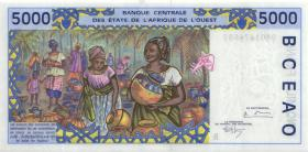 West-Afr.Staaten/West African States P.213Bc 5000 Francs 1994 (1) Benin
