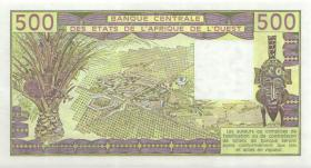 West-Afr.Staaten/West African States P.106Am 500 Francs 1989 (1)