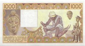 West-Afr.Staaten/West African States P.207Bi 1000 Francs 1990 (1)