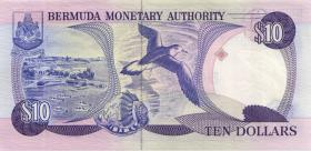 Bermuda P.36 10 Dollars 1989 (1) low serial number