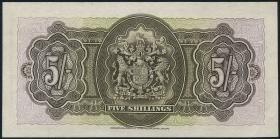 Bermuda P.08b 5 Shillings 1937 (1-)