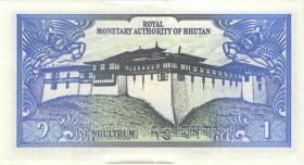 Bhutan P.12b 1 Ngultrum (1990) (1)