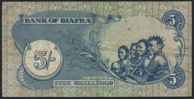 Biafra P.03a 5 Shillings (1968-69) (3)