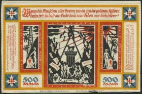 Notgeld Bielefeld GP.24a/c  500 Mark 1922 Leinen (1)
