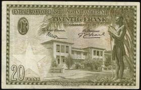 Belgisch-Kongo / Belgian Congo P.26 20 Francs 1954 (3)