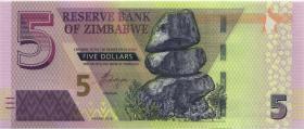 Zimbabwe P.102 5 Dollars 2019 (1)