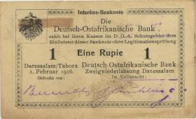 R.929c: Deutsch-Ostafrika 1 Rupie 1916 J3 (1-)