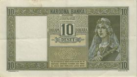 Jugoslawien / Yugoslavia P.035 10 Dinara 1939 (2)
