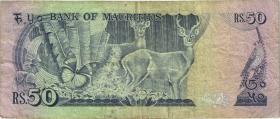 Mauritius P.37b 50 Rupien (1986) (3)