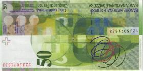 Schweiz / Switzerland P.71e 50 Franken 2012 (1/1-)