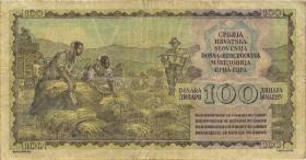 Jugoslawien / Yugoslavia P.068 100 Dinara 1953 (3-)