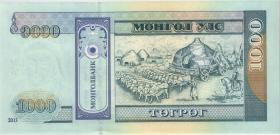 Mongolei / Mongolia P.67d 1000 Tugrik 2013 (1)