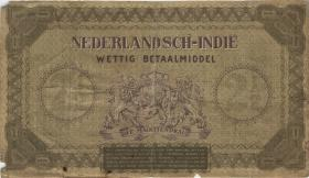 Ndl. Indien / Netherlands Indies P.109a 2 1/2 Gulden 1940 (4)