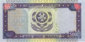 Turkmenistan P.12a 5000 Manat 1999 (1)