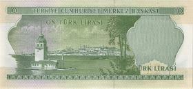 Türkei / Turkey P.180 10 Lira L. 1930 (1966) (1)