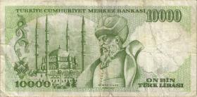 Türkei / Turkey P.200 10000 Lira 1970 (1989) (3)