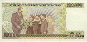 Türkei / Turkey P.205a 100.000 Lira 1970 (1991) (1) Serie B