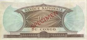 Kongo / Congo P.006s 100 Francs 1.9.1961 Specimen (1/1-)