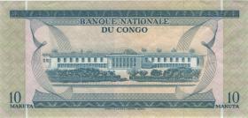Kongo / Congo P.009a 10 Makuta 1.9.1968 (2)