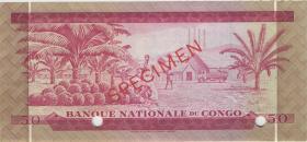 Kongo / Congo P.011s 50 Makuta 2.1.1967 Specimen (2)