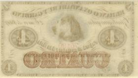 Argentinien / Argentina P.S1781r 4 Reales Bolivianos 1869 Banco Oxandaburu (1)