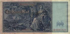 """R.038 100 Mark 1909 """"Flottenschein"""" (2)"""