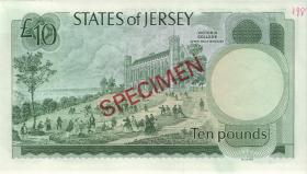 Jersey P.13as 10 Pounds (1976-88) (1) Specimen BB 000000