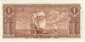 Uruguay P.35c 1 Peso 1939 (2) Serie D