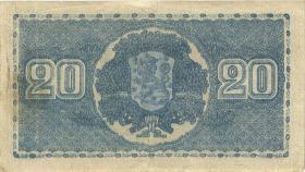 Finnland / Finland P.086 20 Markkaa 1945 (1948) (3)