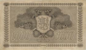 Finnland / Finland P.067 1000 Markkaa 1922 (1941-44) Serie A (3+)