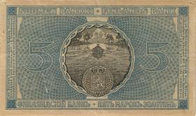 Finnland / Finland P.020 5 Markkaa 1909 (1918) (3+)