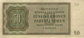 R.564b: Böhmen & Mähren 50 Kronen 1944 Specimen (1/1-)