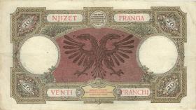 Albanien / Albania P.07 20 Franga (1939) (3)