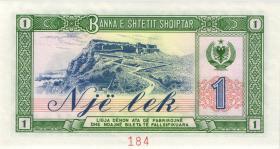 Albanien / Albania P.40s2 1 Lek 1976 PG 000000  Specimen (1)