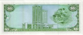 Trinidad & Tobago P.37b 5 Dollars (1985) (1-)