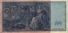"""R.035 100 Mark 1908 """"Flottenschein"""" (2)"""
