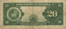 Venezuela P.32c 20 Bolivares 1957 (3)