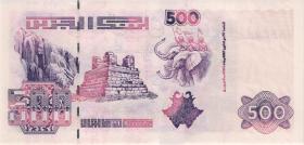 Algerien / Algeria P.141 500 Dinars 1998 (2000) (1) Sign 3