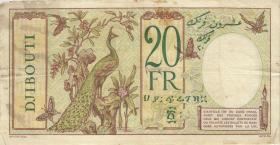 Djibouti P.07a 20 Francs o.D. (3-)