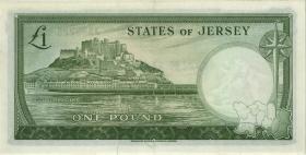 Jersey P.08b 1 Pound (1963) Serie J (1-)
