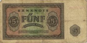 R.342c 5 DM 1948 XC Ersatznote (3-)