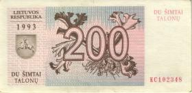 Litauen / Lithuania P.45 200 Talonu 1993 (2)