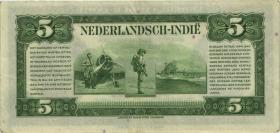 Ndl. Indien / Netherlands Indies P.113 5 Gulden 1943 (3+)