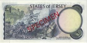 Jersey P.11bs 1 Pound (1976-88) Specimen (1)