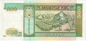 Mongolei / Mongolia P.65A 500 Tugrik 2000 (1)
