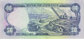 Jamaika / Jamaica P.71d 10 Dollars 1991 (1)