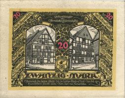 Osterwieck GR.350 20 Mark 1922 Ledergeld Baustein (1-)