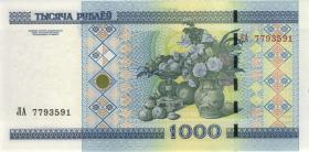 Weißrussland / Belarus P.28b 1000 Rubel 2000 (1)