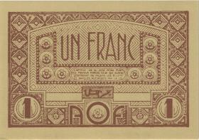 Franz. Westafrika / French West Africa P.34b 1 Franc (1944) (1)